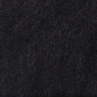 Kardet ull, svart