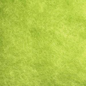 Kardet ull, syrlig grønn