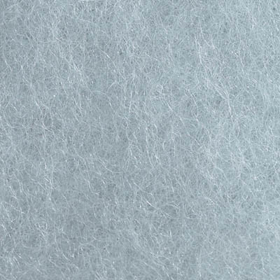 Kardet ull, isblå