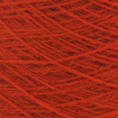 Ask - Hifa 2 Ullgarn, mørk terracottarød - spolt