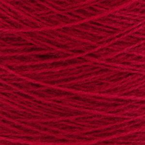 Ask - Hifa 2 Ullgarn, rubinrød - spolt