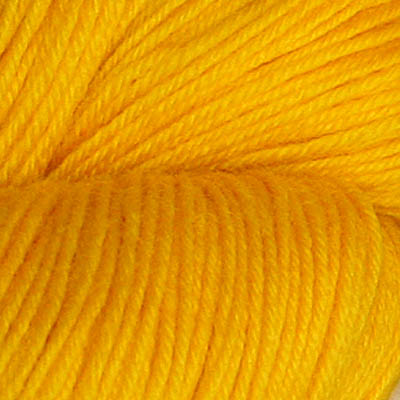 Hjerte - Superwash 12/4, klar ren gul
