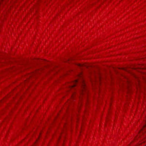 Hjerte - Superwash 12/4, rød (kald)