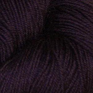 Hjerte - Superwash 12/4, mørk aubergine
