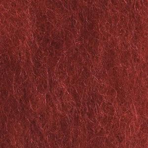 Kardet ull, dyp rød