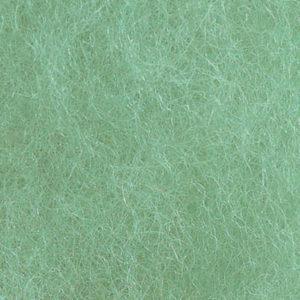 Kardet ull, lys turkisgrønn