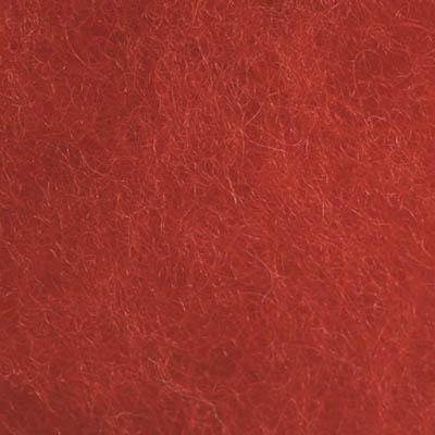 Kardet ull, skarp rød