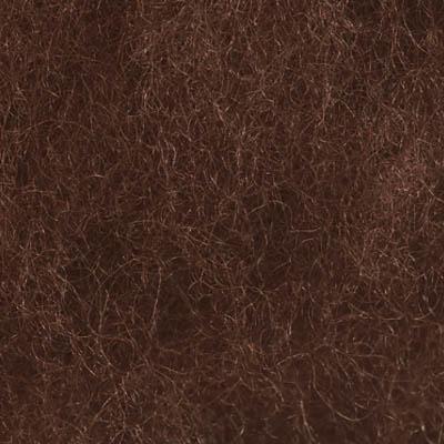 Kardet ull, brun