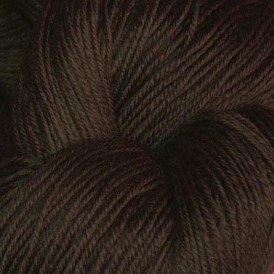 Hjerte - Superwash 12/4, mørk brun