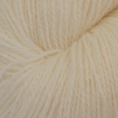 Fjord - Sokkegarn 2, bleket hvit