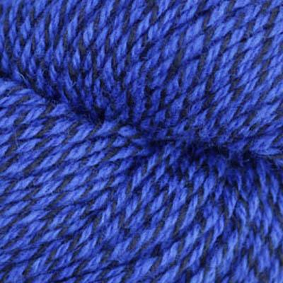 Fjell - Sokkegarn 3, koboltblå/svart molinert