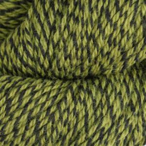 Fjell - Sokkegarn 3, lys oliven/svart molinert