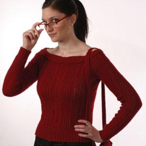 Hullmønstret genser (Hjerte)