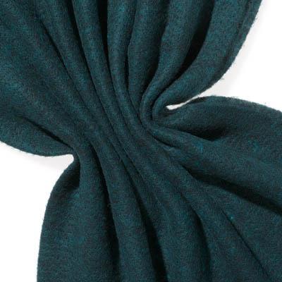 Nålefilt ull/silke 120 cm - 100g/m, svart/turkis blå