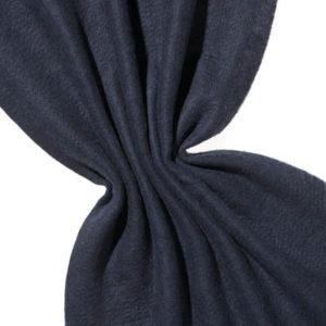 Nålefilt ull/silke 120 cm - 100g/m, svart/blå