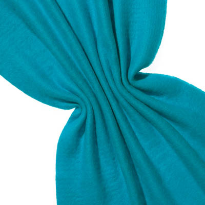 Nålefilt ull/silke 120 cm - 100g/m, turkisblå/turkisblå