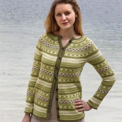 Småmønstret jakke (Luxor)