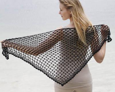 Heklet sjal (Perle)