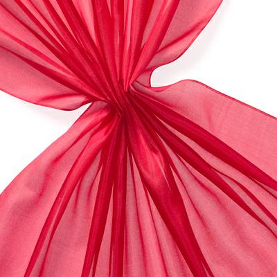 Pongee silke 90 cm - 20 g/m, dyp rød