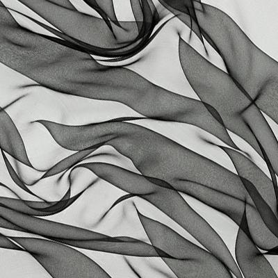 Silkechiffon 110 cm - 18 g/m, svart