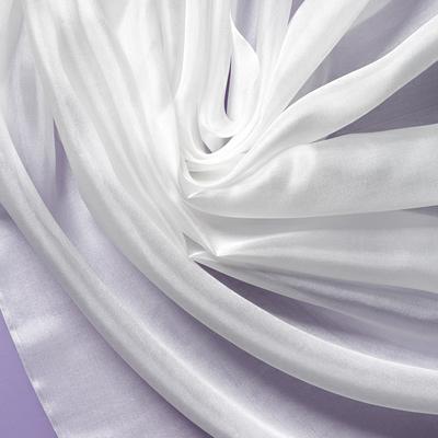 Pongee silke 140 cm - 28 g/m, hvit