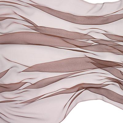 Silkechiffon 110 cm - 18 g/m, cappucino