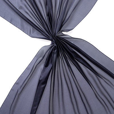 Pongee silke 90 cm - 20 g/m, marineblå