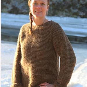 Rillestrikket genser str. M (Norsk Pelsullgarn)