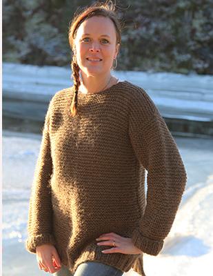 Rillestrikket genser (Norsk Pelsullgarn)