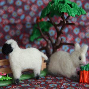 Filting i former lam/kanin