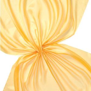 Pongee silke 90 cm - 20 g/m, gul