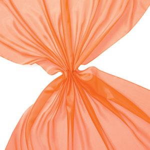 Pongee silke 90 cm - 20 g/m, oransje
