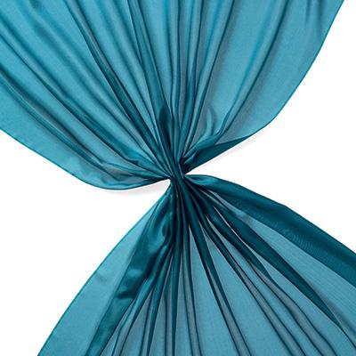 Pongee silke 90 cm - 20 g/m, petrol