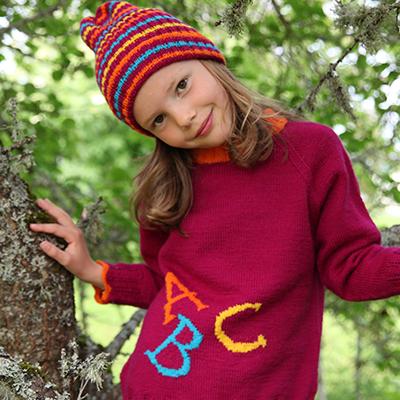 ABC genser jente (Hjerte) - oppskrift