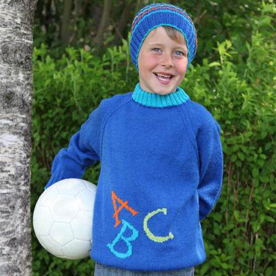 ABC genser gutt (Hjerte) - oppskrift