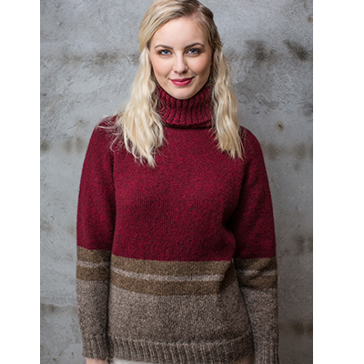 Nora genser (Norsk Pelsullgarn) - oppskrift